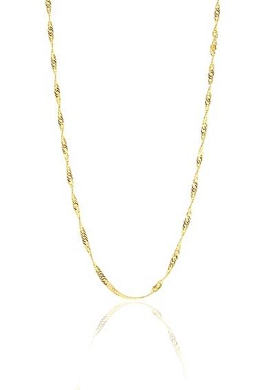 Söğütlü Silver Söğütlü Silver 925 Ayar  60 Cm Singapur Modeli Kolye Altın